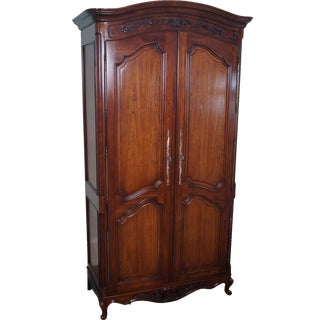 French Louis XV Style Fruitwood Armoire