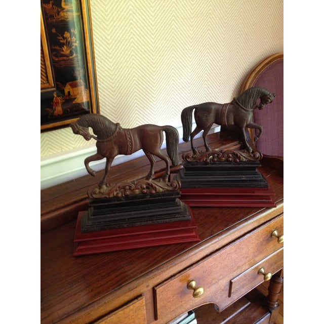 Antique Cast Iron Horse Molds - a Pair - Image 2 of 7