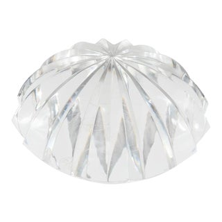 Baccarat Radial Faceted Paperweight or Objet D'Art