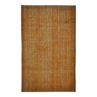 Vintage Turkish Isparta Distressed Over-Dye Area Rug 6'1 X 9'8
