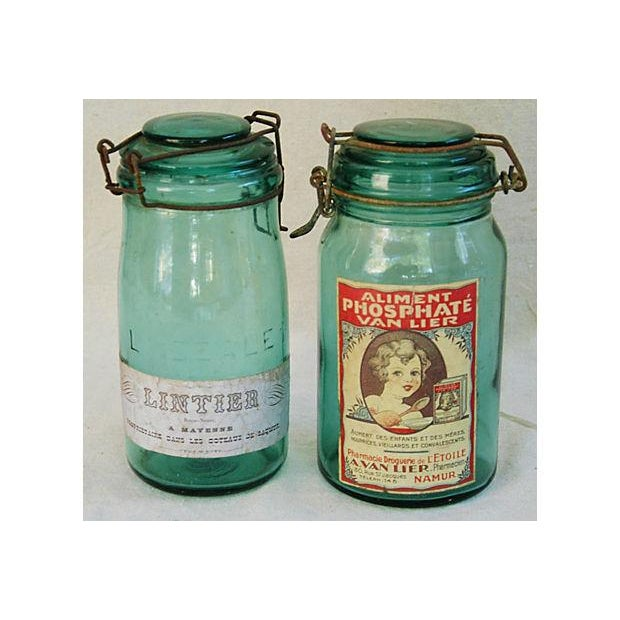 Early 1900s French Preserve Canning Jars - Pair - Image 2 of 6