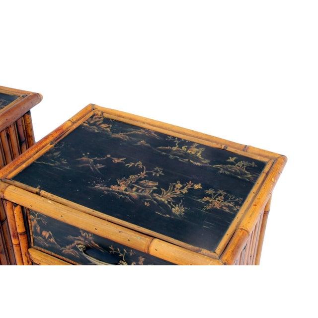 Bamboo Nightstands - Pair - Image 2 of 3