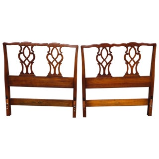 Kindel Chippendale Twin Headboards - A Pair