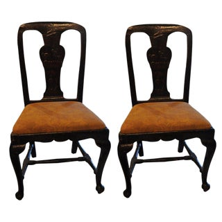 18th C. Chinoiserie Side Chairs - A Pair