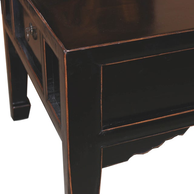 Four drawer black coffee table chairish for Coffee table 80 x 50