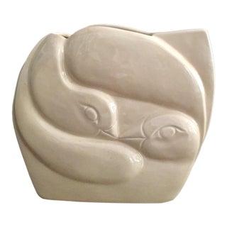 Art Deco Paolo Marioni Swan Vase
