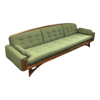Kroehler Green Tweed Sofa
