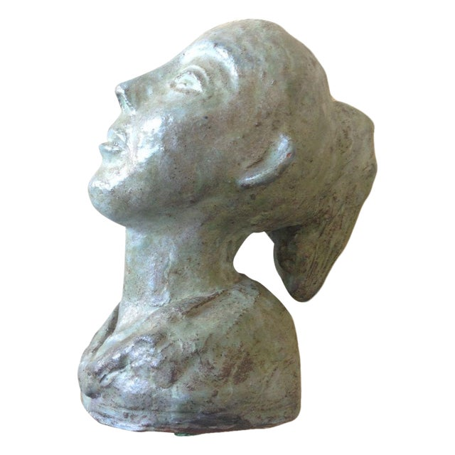 1956 Bust Sculpture of Girl - Image 1 of 8