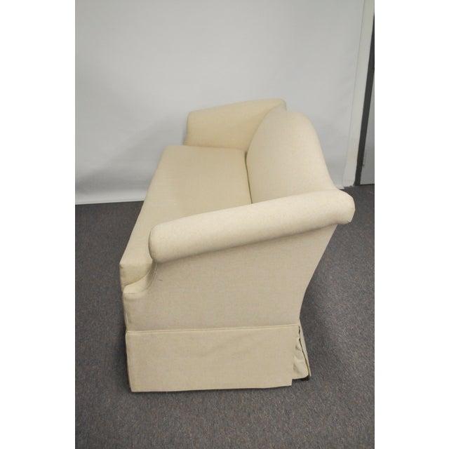 Vintage Linen Upholstered Loveseat - Image 3 of 4