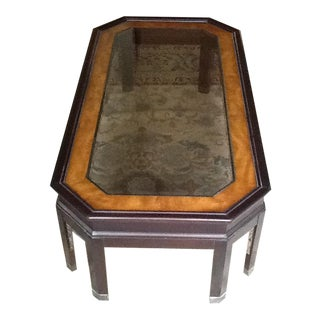 Burl Inlay Coffee Table