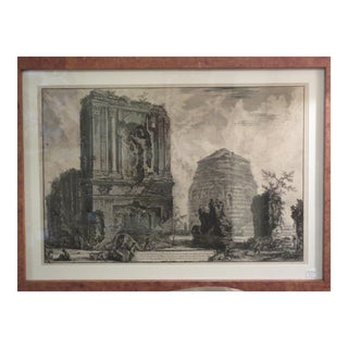 Francesco Piranesi 18th Century Architectural Engraving of Sepotero