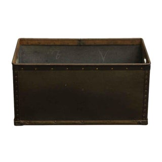 Imported Reclaimed Green Metal Industrial Suroy Bin