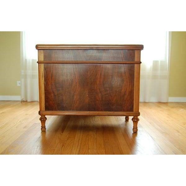 Early 1900's Mahogany Partner Desk by CF Roth - Image 3 of 9