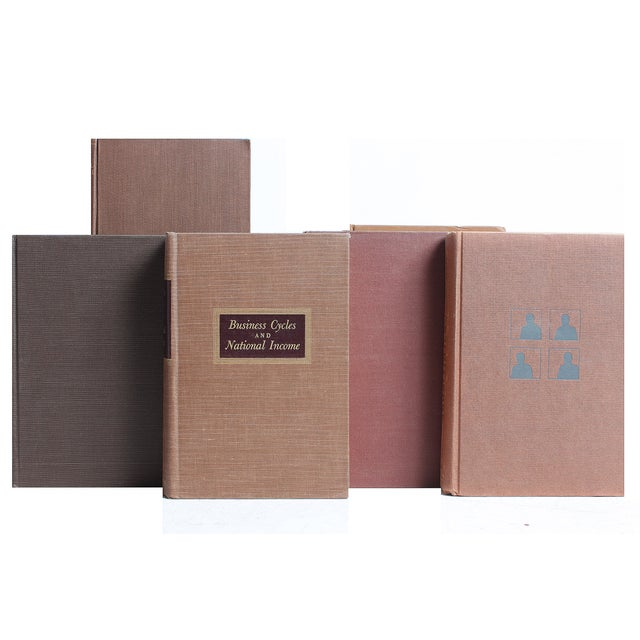 Image of Brown Mid-Century Books - S/20