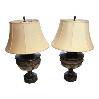 Fine Art Lamps Iridescent Glass Table Lamps - A Pair