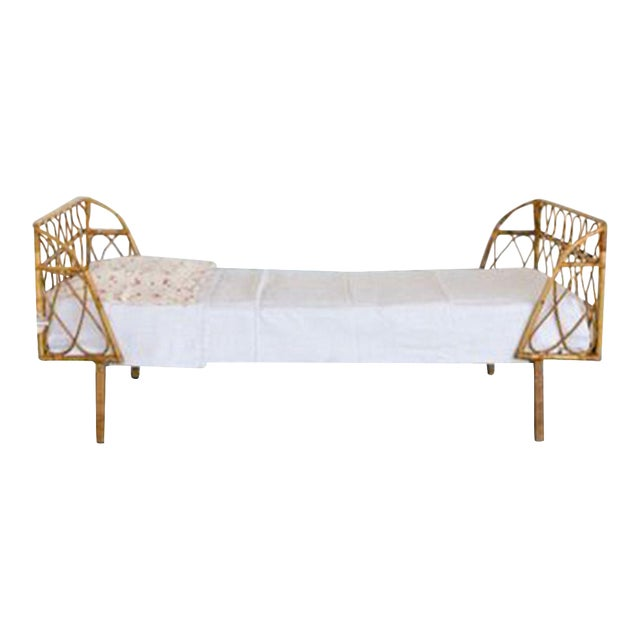 Vintage Bamboo Daybed - Image 1 of 3