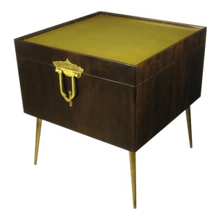 Bert England Orientation Group Walnut and Brass Bar Cabinet for John Widdicomb