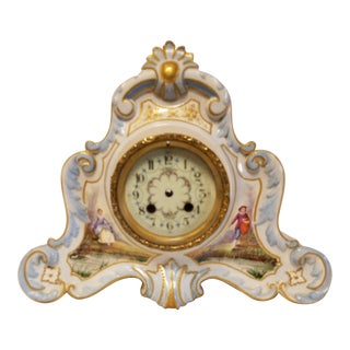 Antique Peabody Porcelain Hand Painted Clock