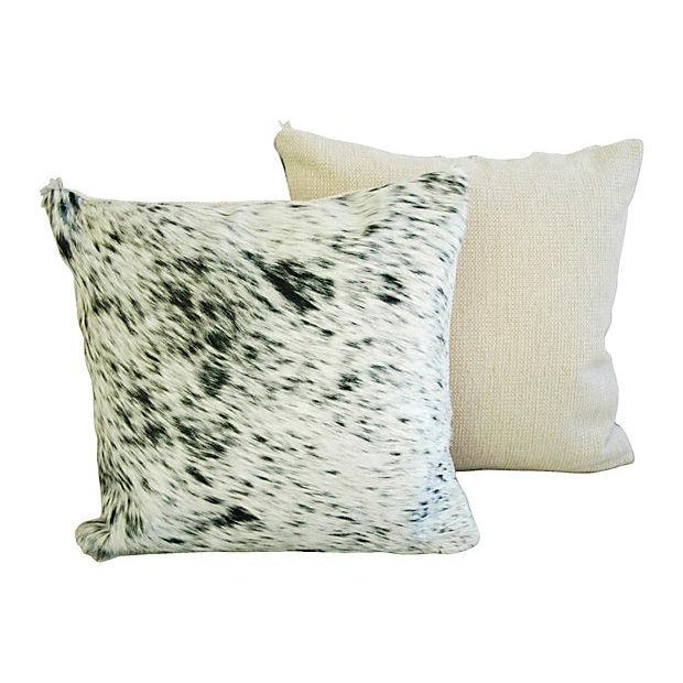 Custom Natural Cowhide & Down Pillows - A Pair - Image 4 of 6