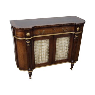 EJ Victor Regency Style Mahogany & Satin Wood Sideboard Cabinet