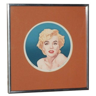 """Marilyn"" Silkscreen Print by Anne Gifford, 1980"