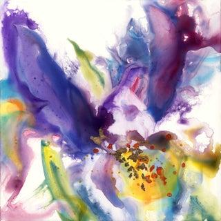Original Purple Iris Painting