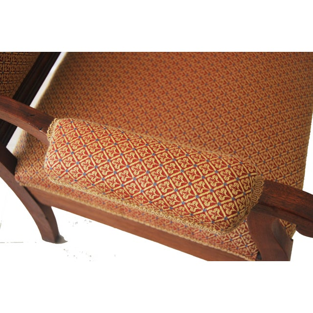 American Walnut & Upholstered Armchair - Image 8 of 10