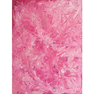 "Bruce Mishell ""Pink Passion"" Oil on Canvas Painting"