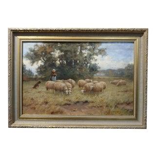 Martinus Jacobus Nefkens Dutch Pastoral Landscape Painting