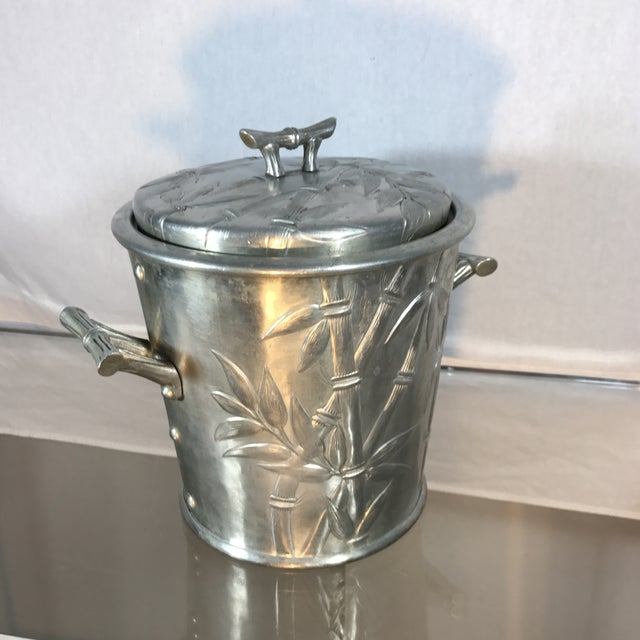 Image of Aluminum Bamboo Ice Bucket