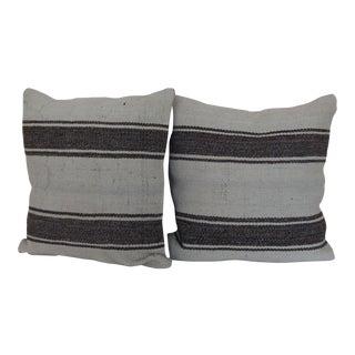 Antique Vintage Kilim Rug Pillows - A Pair