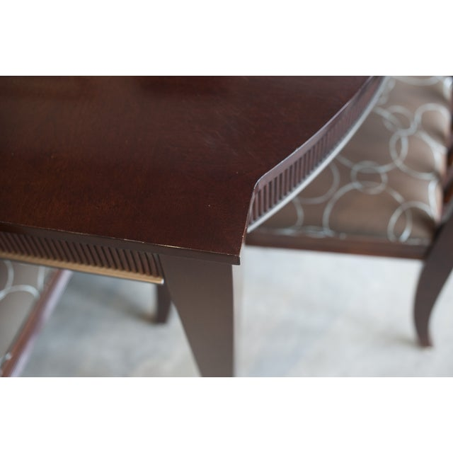Ethan Allen Dark Mahogany Stained Dining Set - Image 5 of 8