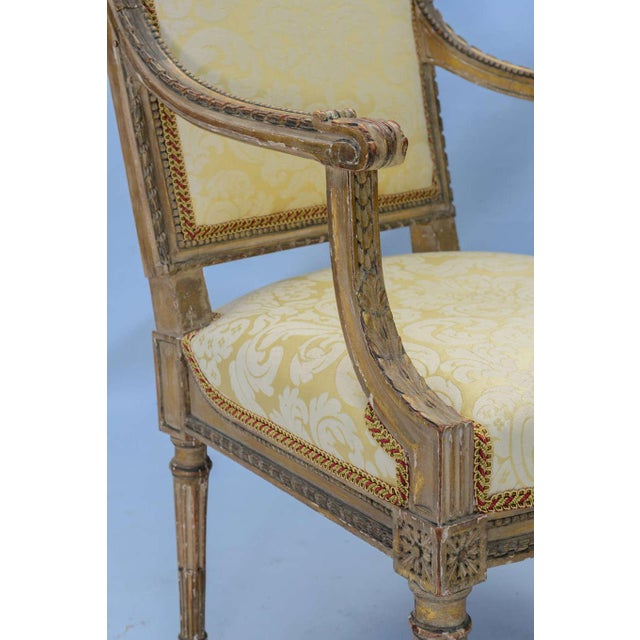 Pair of Early 19th Century Louis XVI Fauteuils - Image 9 of 10