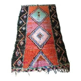 Vintage Moroccan Boucherouite Rug - 4′6″ × 8′