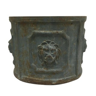 Cast Iron Lions Head Planter