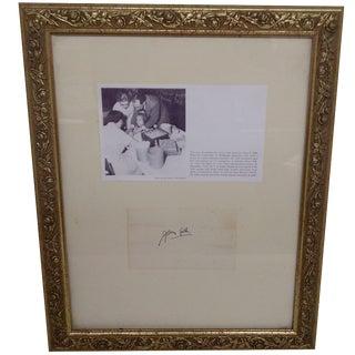 Jonas Salk Autograph & Photograph