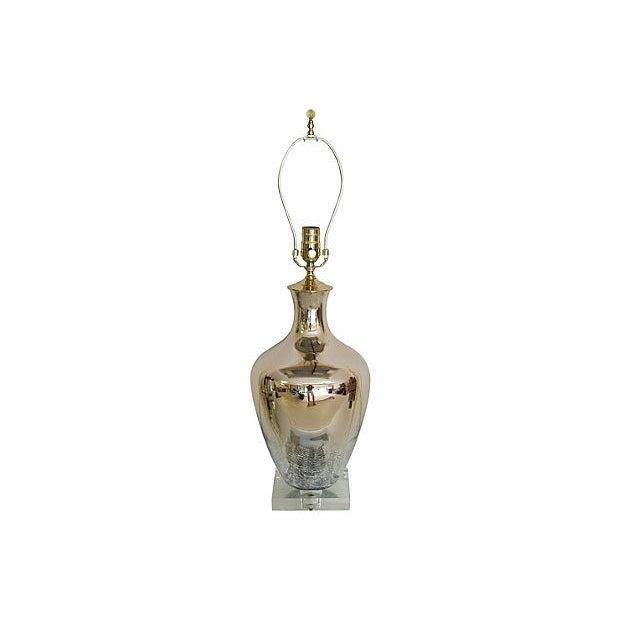 pale gold italian mercury glass lamp chairish. Black Bedroom Furniture Sets. Home Design Ideas
