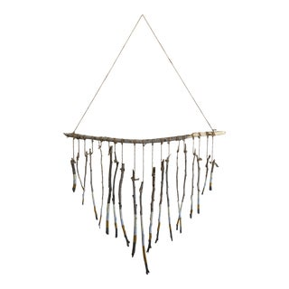 Bohemian Heart Dipped Branch Wall Hanging