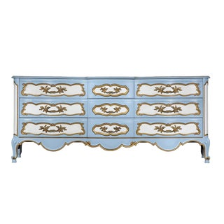 Karges French-Style Blue & White Dresser