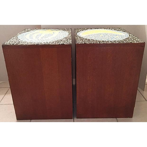 1970's Mosaic Top Nightstands - A Pair - Image 7 of 10