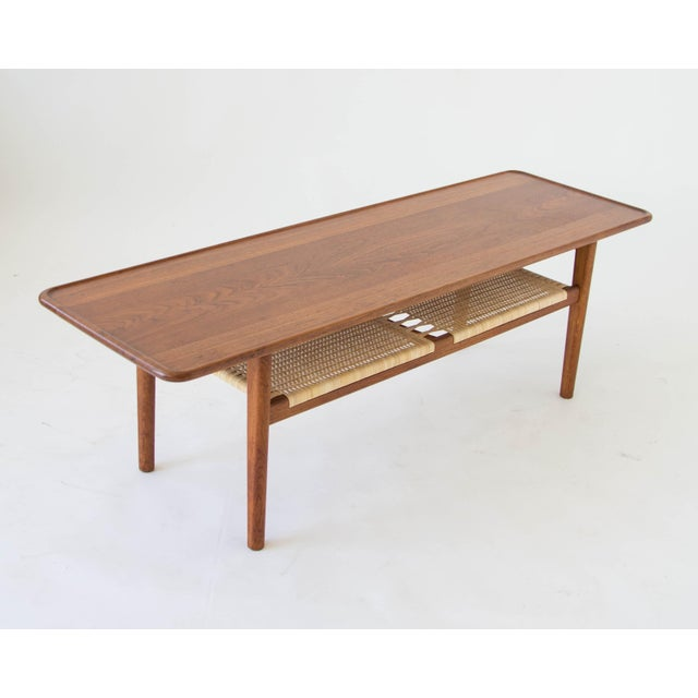 Hans Wegner AT-10 Coffee Table with Cane Shelf - Image 2 of 8