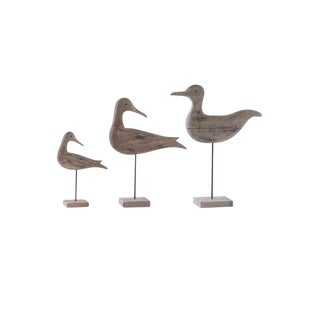 Wood Birds on Spindle - Set of 3