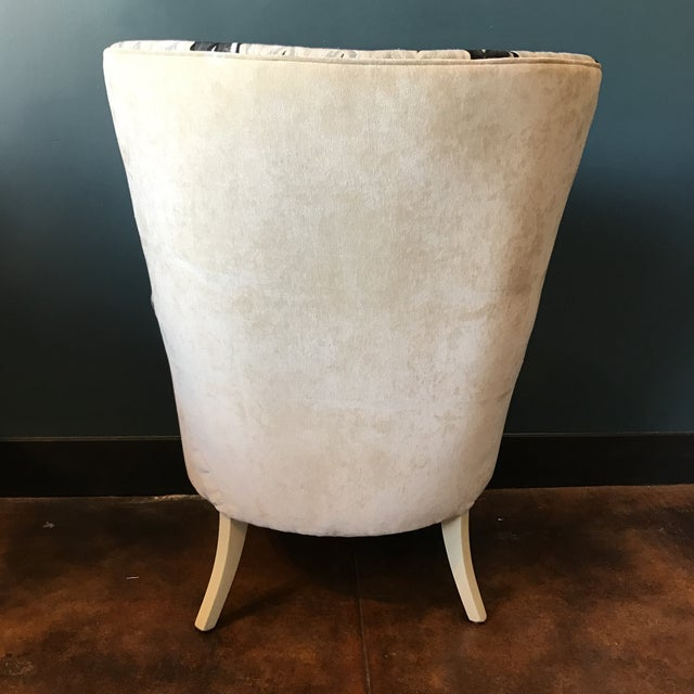 Custom Brass Tacked Wingback Chair - Image 7 of 9