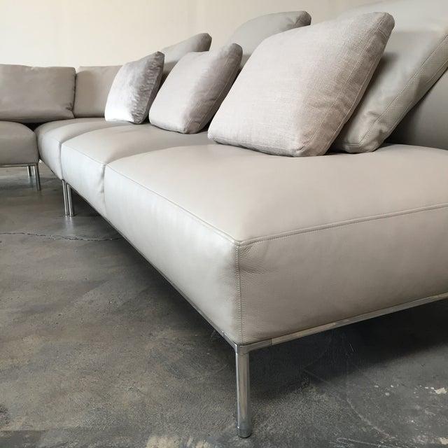 B&B Italia 'Frank' Leather Sectional - Image 6 of 8