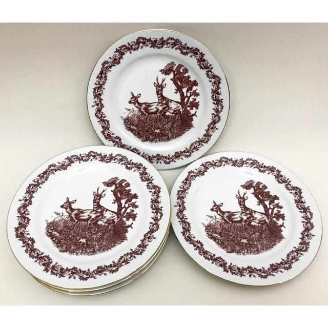 Black Forrest Theme Jlmenau Graf Von Henneberg Dinnerware - 22 Pieces - Image 7 of 11