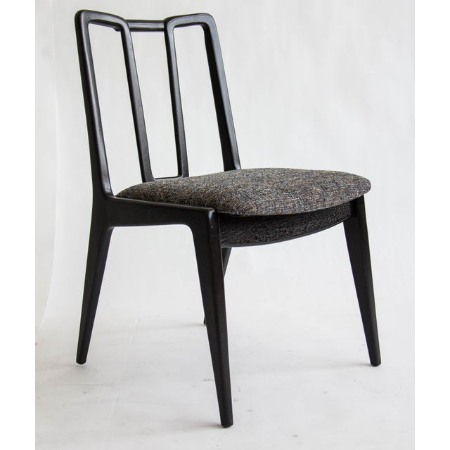 Ebonized John Stuart Dining Chairs - Set of 4 - Image 4 of 7