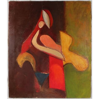 Abstracted Figure in Warm Tones by Gerald Wasserman