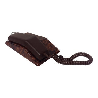Full Grain Leather and Faux Burl Executive Phone