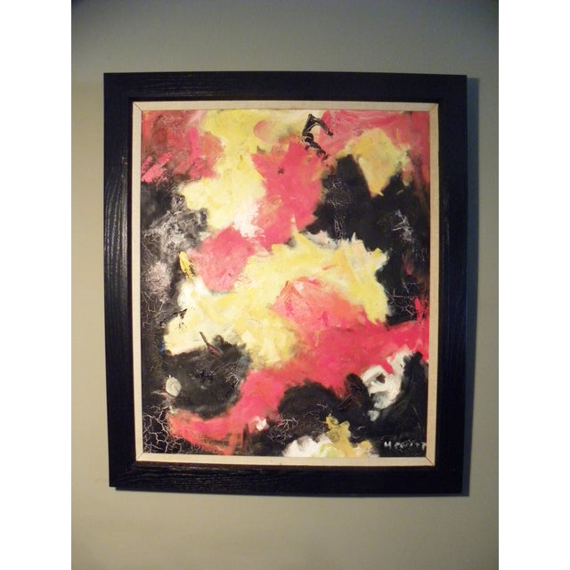 Image of Mid-Century Modern Vibrant Abstract Painting