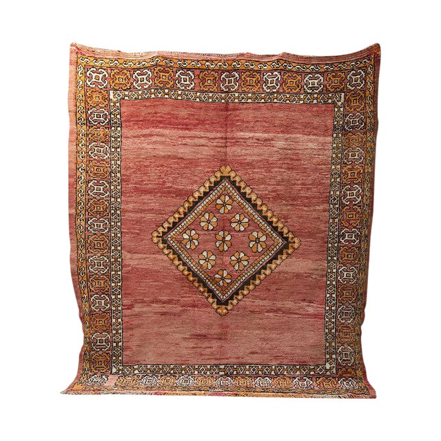 """Red Moroccan Taznakht Rug - 6'7"""" X 8' - Image 1 of 8"""